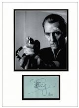 Peter Cushing Autograph Signed Display - The Satanic Rites of Dracula
